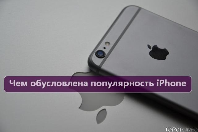 Чем обусловлена популярность iPhone?